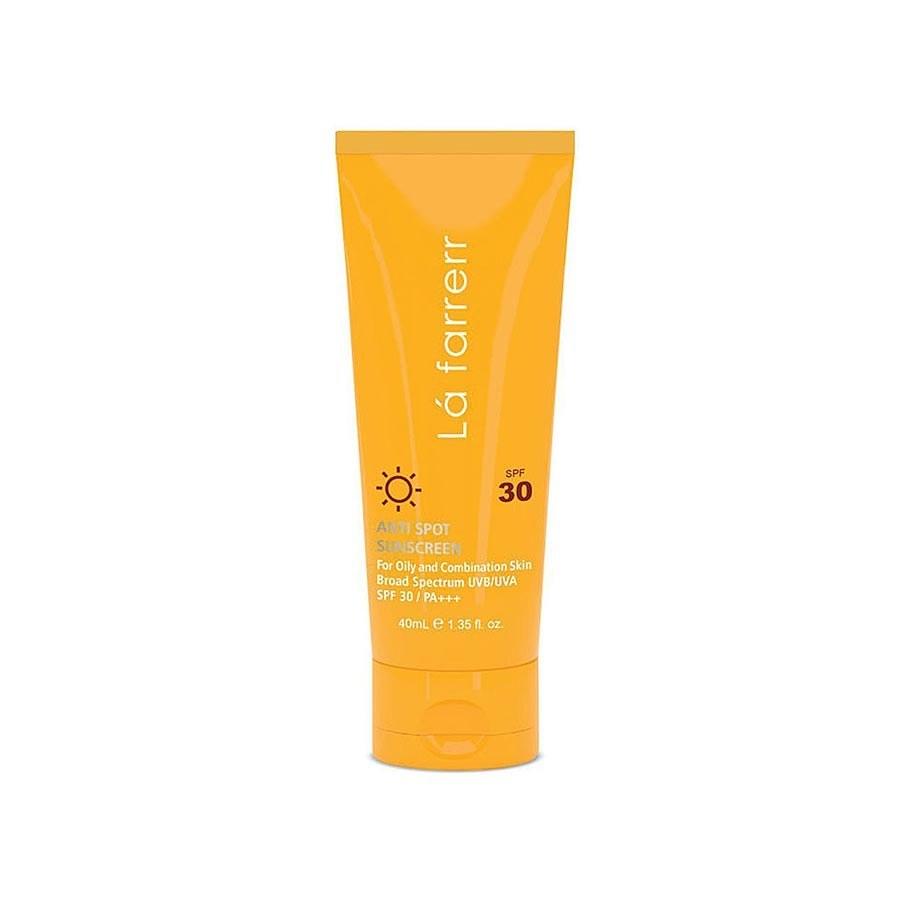 تصویر کرم ضد آفتاب ضد لک بیرنگ لافارر مخصوص پوست چرب SPF30