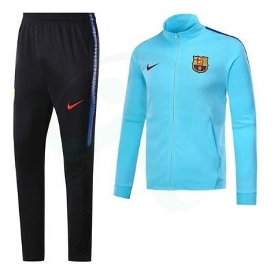 ست گرمکن شلوار بارسلونا آبی Nike Barcelona 2017-18 Tracksuits Blue