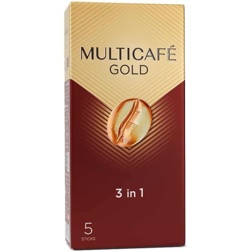 تصویر بسته 5 عددی کافی میکس 1*3 گلد مولتی کافه 25 گرمی -
