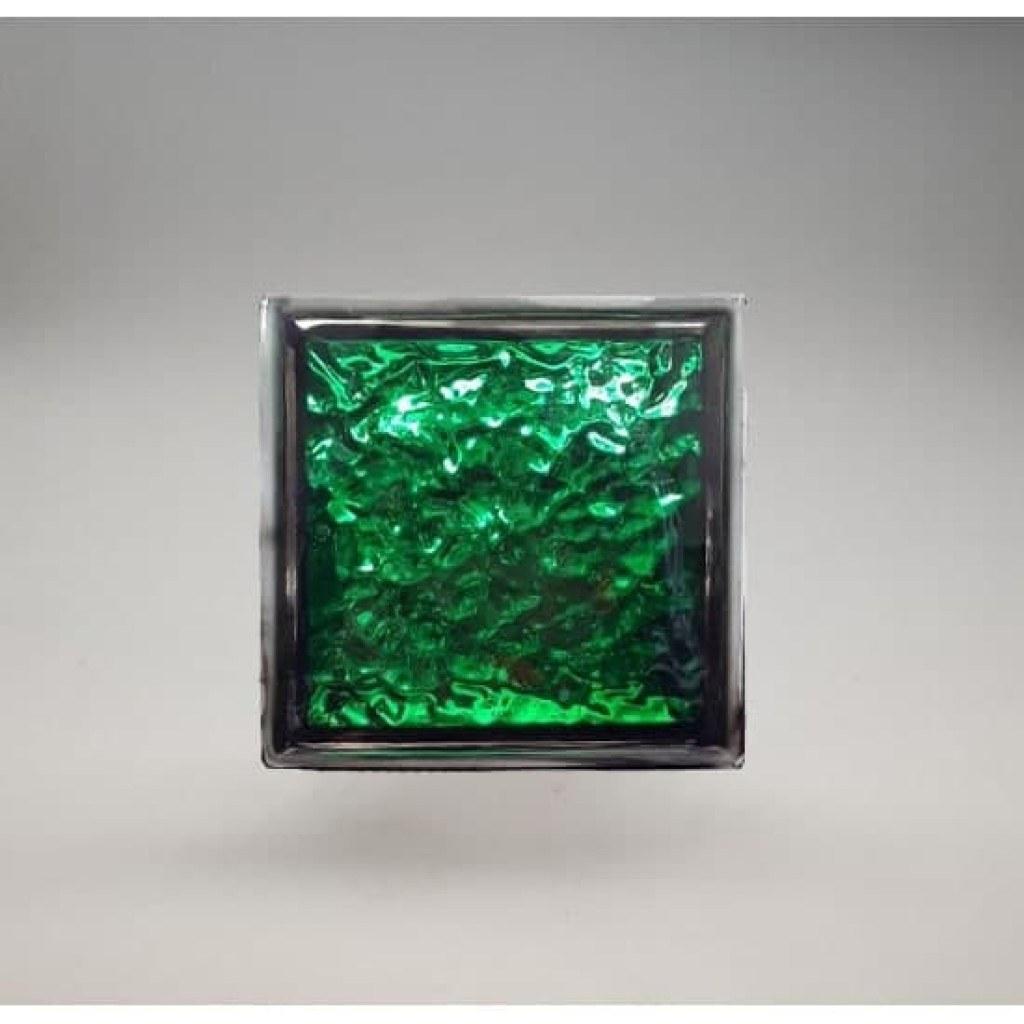 تصویر بلوک شیشه ای کاوه مدل چکشی سبز