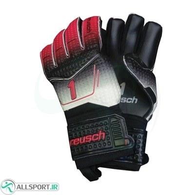 دستکش دروازه بانی راش طرح اصلی مشکی قرمز Reusch 1 Goalkeeper Gloves