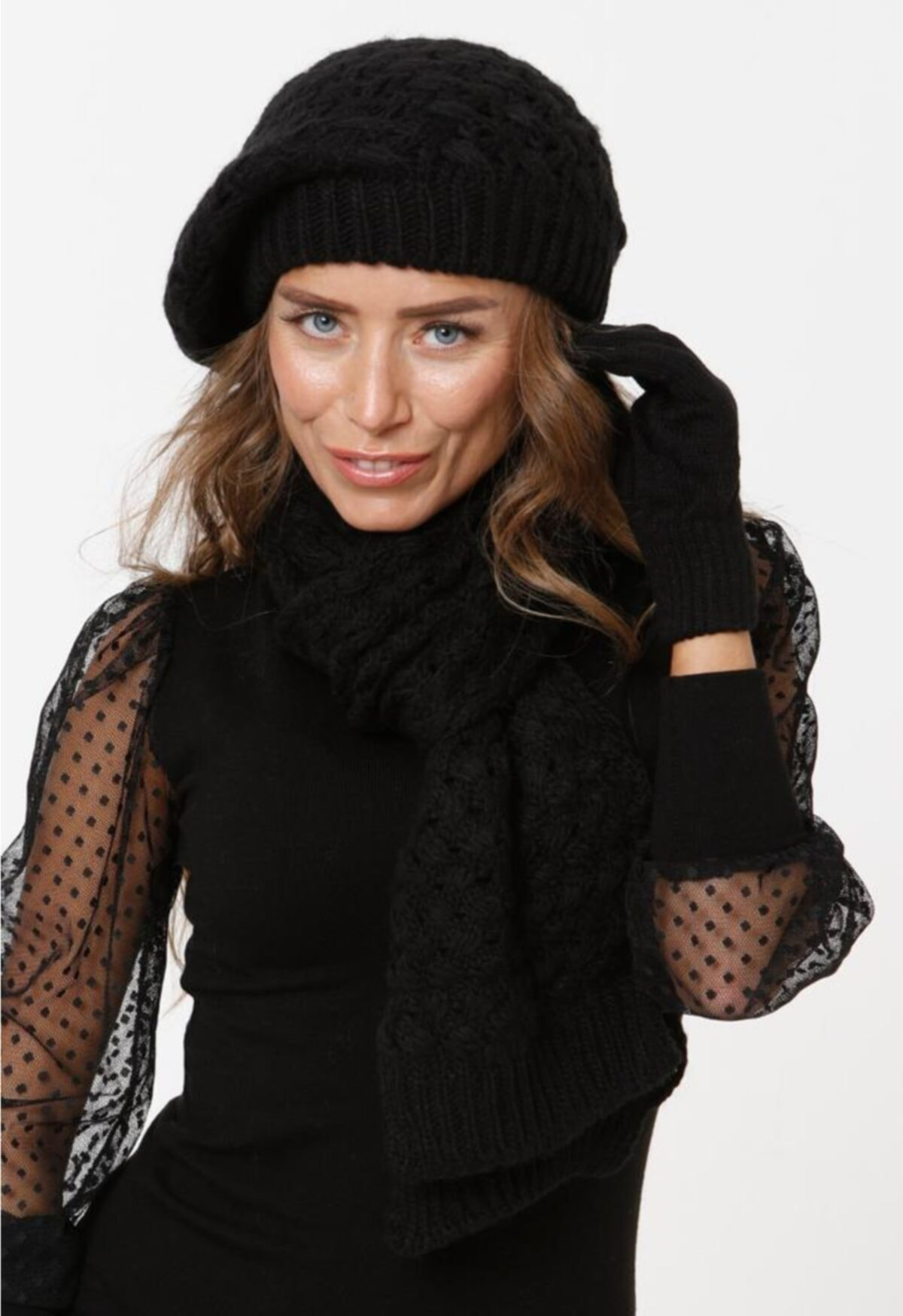 ست دستکش کلاه زنانه شال گردن برند Bigbomb کد 1608134915