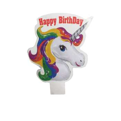 تصویر شمع تولد مدل اسب تک شاخ کد 0052