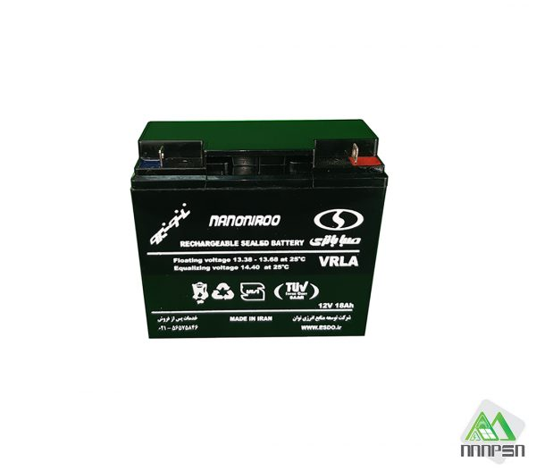 باتری شارژی 12 ولت 18 آمپر SABA مدل VARLA