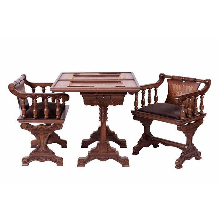 تصویر میز و صندلی شطرنج و تخته نرد کد IGA-500