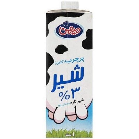 شیر پر چرب مهین دارای ویتامین D3 حجم 1لیتر