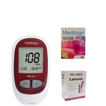 دستگاه تست قند خون مدیساین مدل MM1100 | Medisign MM1100 Blood Glucose Monitoring