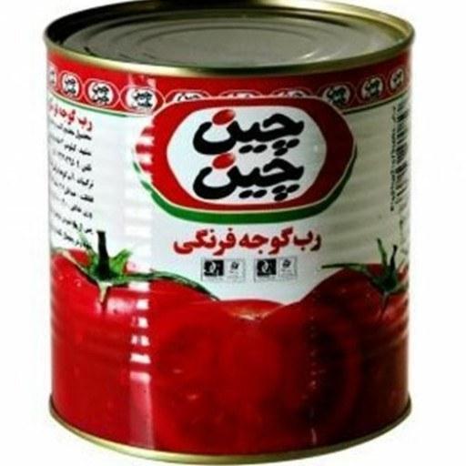 تصویر رب گوجه فرنگی آسان باز شو چین چین - 800 گرم ا Chin Chin Canned tomato paste easy to open - 800 g Chin Chin Canned tomato paste easy to open - 800 g