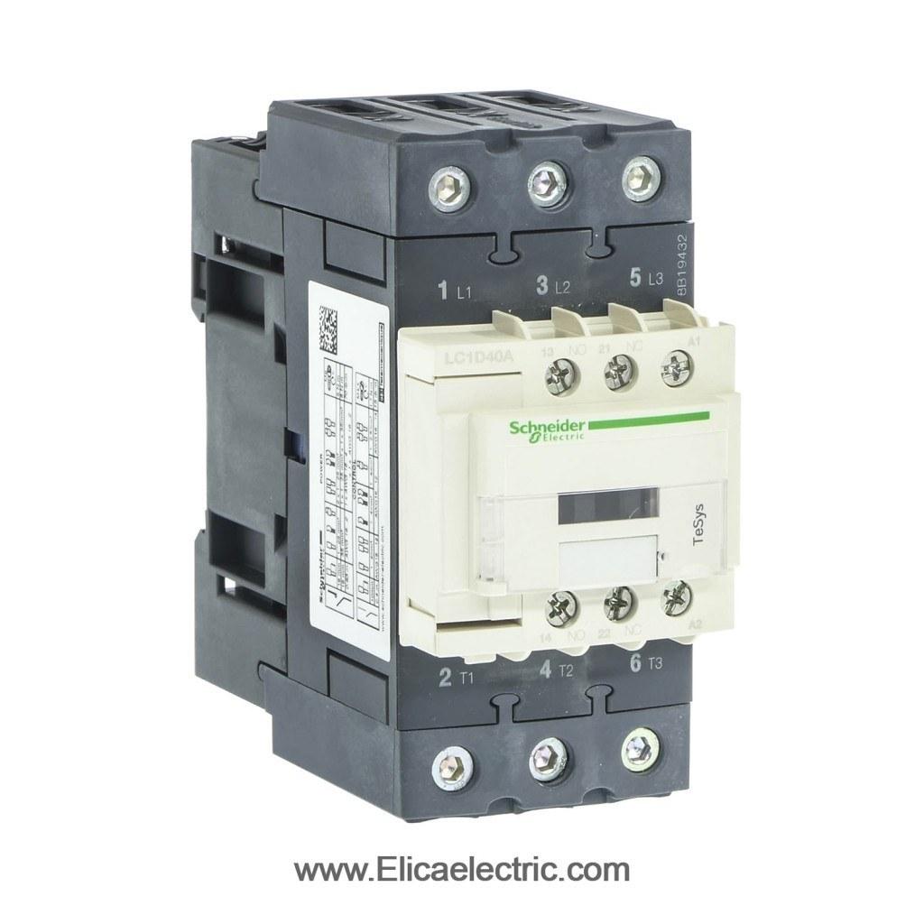 تصویر کنتاکتور اشنایدر الکتریک 40 آمپر 220 ولت AC