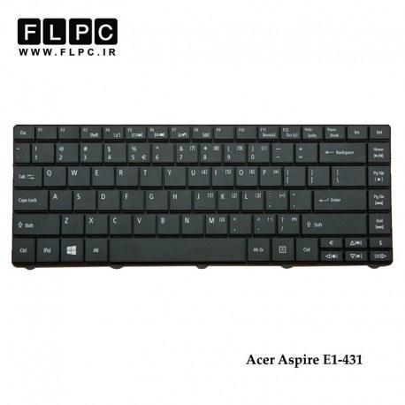تصویر کیبورد لپ تاپ ایسر Acer Aspire E1-431 Laptop Keyboard مشکی-اینتر کوچک-بدون فریم