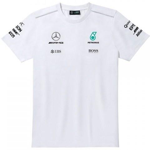 تی شرت مردانه سفیدراننده Mercedes-Benz |