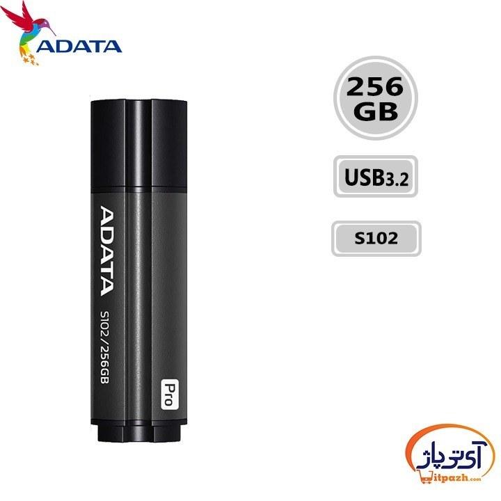 تصویر فلش مموری ای دیتا مدل S102 Pro USB 3.2 ظرفیت 256 گیگابایت ADATA S102 Pro USB3.2 Flash Memory - 256GB