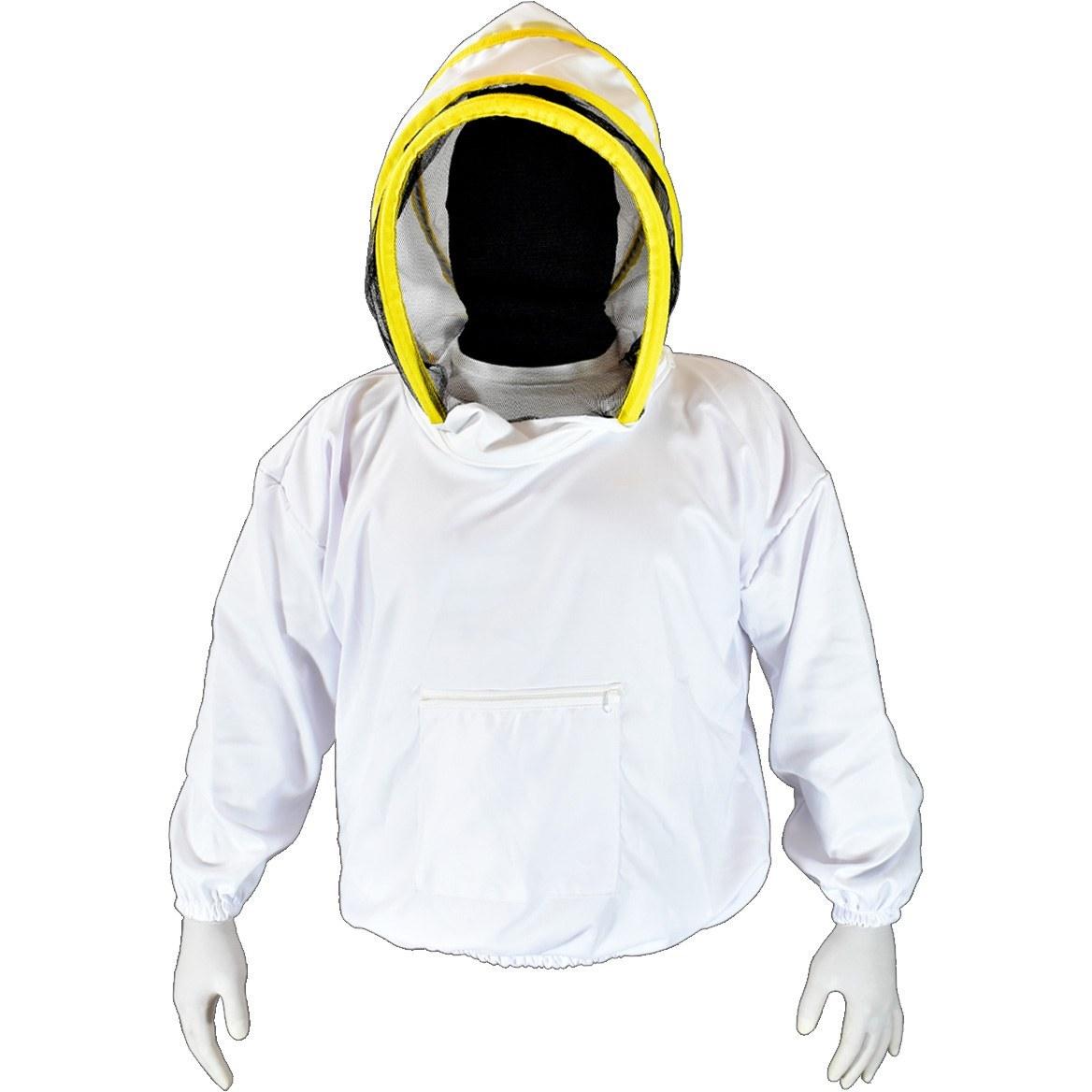 تصویر نیم تنه زنبورداری با کلاه فضایی