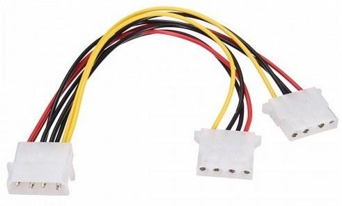 کابل افزایش ۱ به ۲ برق IDE پاور   MIT 4Pin Molex IDE Male to 2Port IDE Female Power Extension Cable