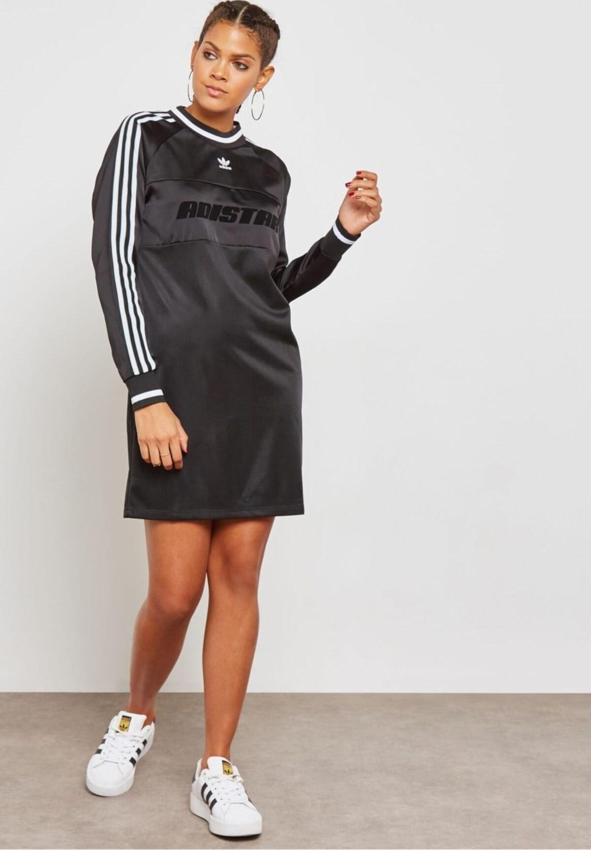 تصویر پیراهن تونیک زنانه مشکی برند adidas کد 1616971322