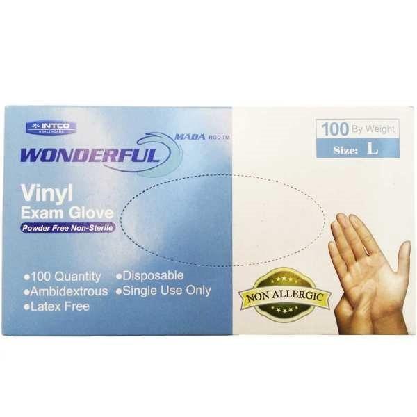 دستکش یکبار مصرف واندرفول بسته 100 عددی سایز L