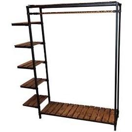 تصویر قفسه رگال ۵ طبقه چوب و فلز کد ۴۰۰۶۳۹