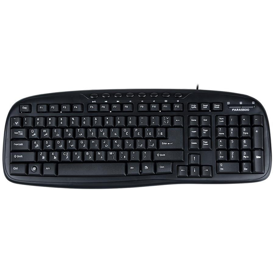 تصویر کیبورد باسیم فراسو اف سی آر 6990 کیبورد فراسو FCR-6990 Wired Keyboard