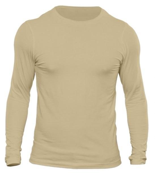 تیشرت آستین بلند مردانه رنگ کرم تیره