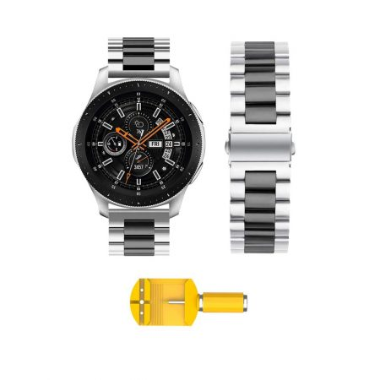 بند ساعت سامسونگ Galaxy Watch 46mm مدل استیل دو رنگ | Galaxy Watch 46mm Steel Dual Tone