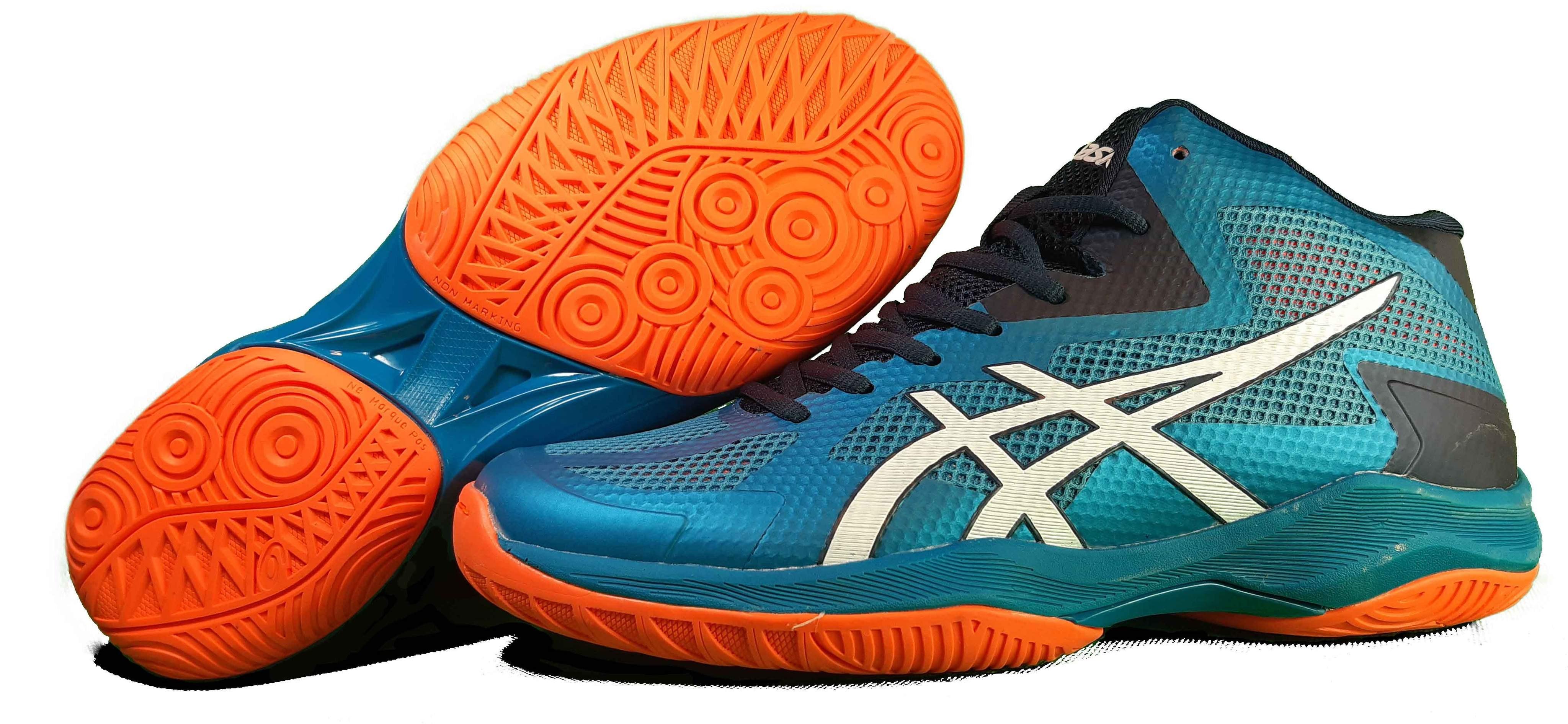کفش والیبال آسیکس مدل V SWIFT FF MT LAKEBLUE/NAVY/ORANGE