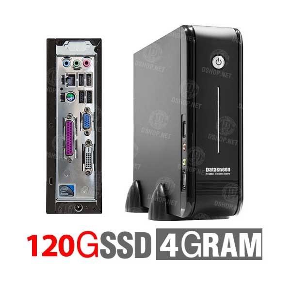 تصویر تین کلاینت دیتاشین پردازنده اینتل اتم D2700 هارد 120 مدل DATASHEEN TC18AE4120