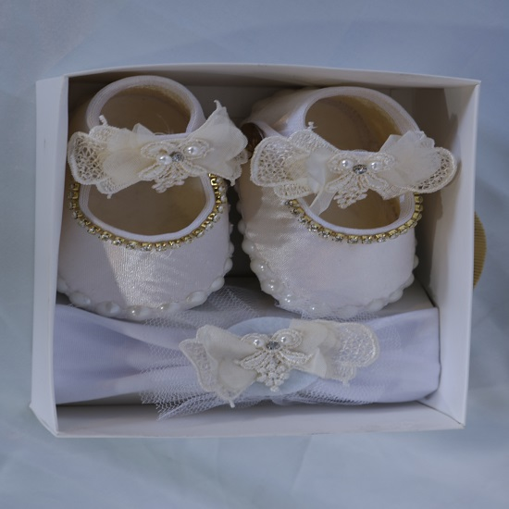 عکس پاپوش و هد نوزادی دخترانه perla  پاپوش-و-هد-نوزادی-دخترانه-perla