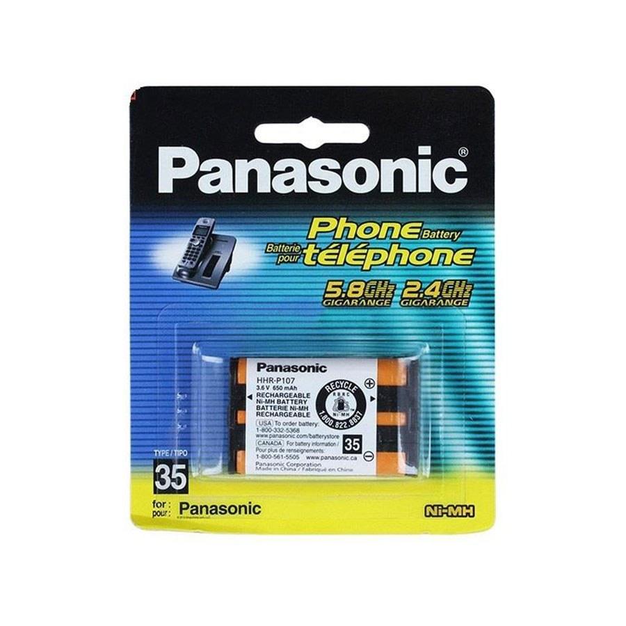 تصویر باتری تلفن قابل شارژ پاناسونیک مدل HHR-P107