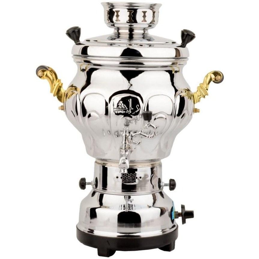 تصویر سماور گازی راشا مدل عروس (6 لیتری)