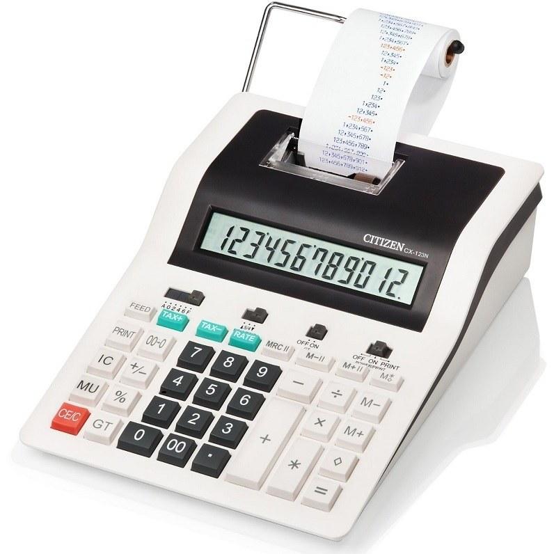 تصویر ماشین حساب شارپ مدل سی ایکس 123N ماشین حساب سیتیزن CX-123N Desktop Printing Calculator