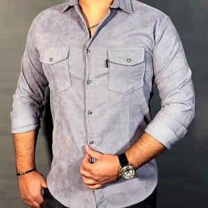 پیراهن مخمل کبریتی مردانه کد 103