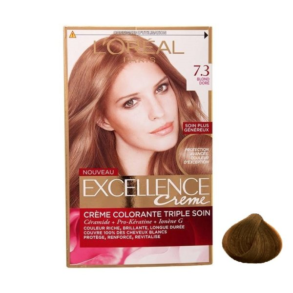 main images کیت رنگ مو لورال مدل Excellence شماره 8.1 Loreal Excellence Hair Color Kit No 8.1