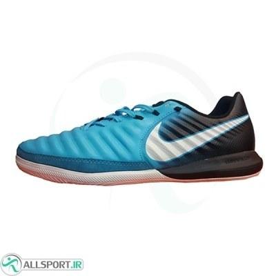 کفش فوتسال نایک تمپو ایکس طرح اصلی آبی مشکی Nike Tiempo X