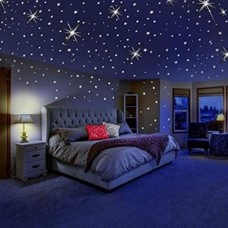 تصویر برچسب ستارهها ، سیارات و اقمار (شبرنگ) نچرال واندرز