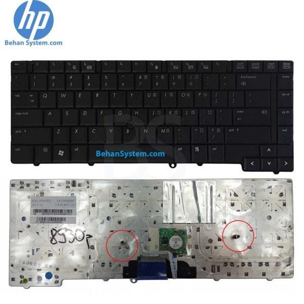 تصویر کیبورد لپ تاپ HP مدل Elitebook 8530P به همراه لیبل کیبورد فارسی جدا گانه