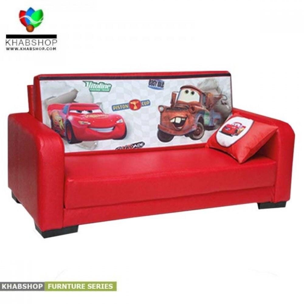 تصویر کاناپه و مبل تخت خواب شو کودک و نوجوان مدل ماشین