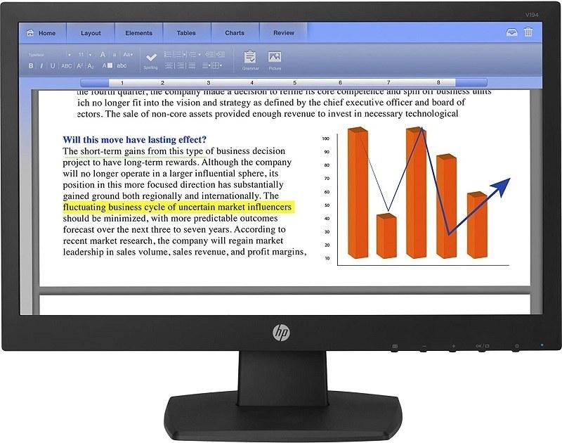 تصویر مانیتور اچ پی نو مدل  HP-V194 ا Monitor HP-V194 - 18.5 inch Monitor HP-V194 - 18.5 inch