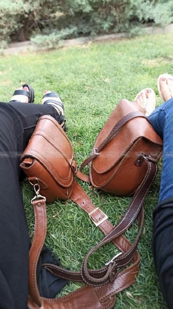 تصویر کیف تمام چرم کاملا طبیعی دست دوز مدل نگین و سویل