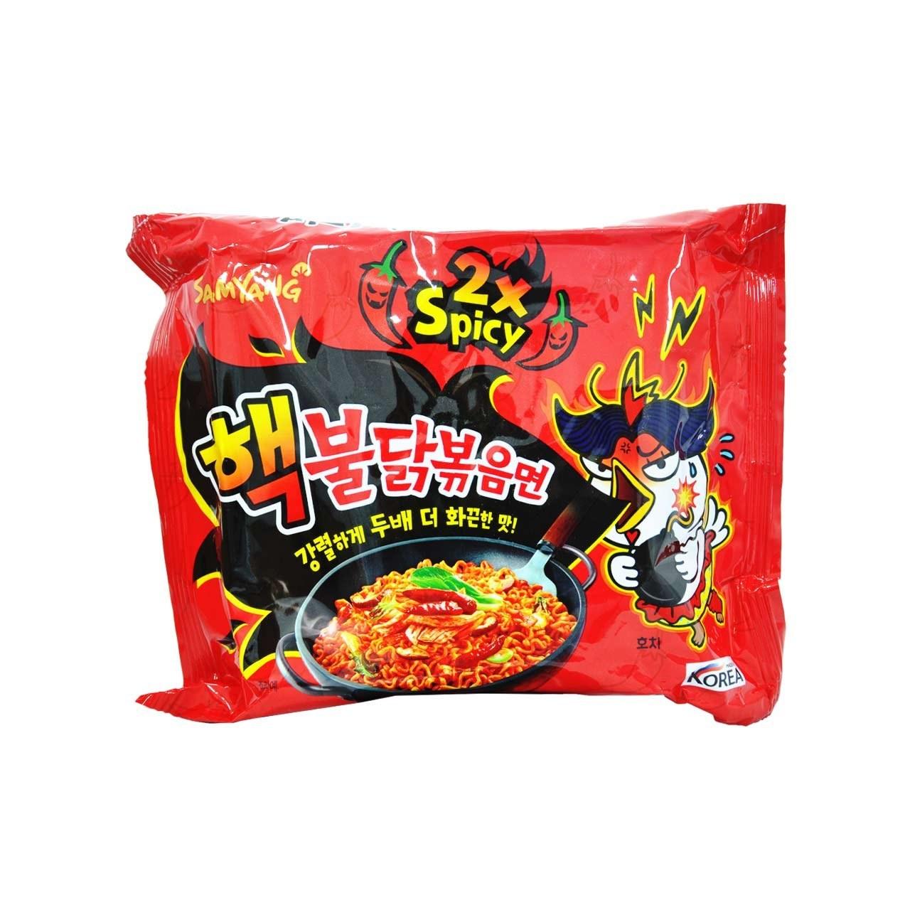 تصویر نودل کره ای (رامن ) مرغ دبل اسپایسی ۱۴۰ گرم بولداک سامیانگ – samyang