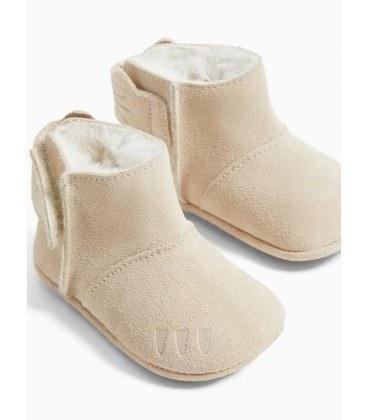 کفش نوزاد کرم زارا  
