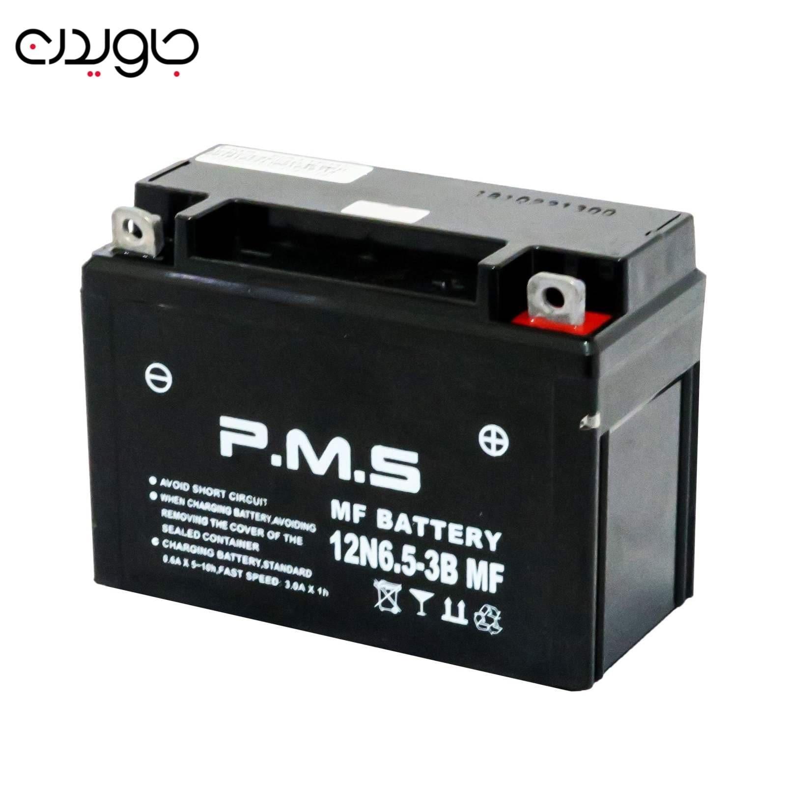 تصویر باتری PMS موتور سیکلت مدل 12V7 - با 12 ولت و 6.5 آمپر کد EL000