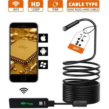 تصویر ویدئو بروسکوپ پرتابل مدل QO8-10m WiFi ا QO8-10m WiFi Portable Video Borescope QO8-10m WiFi Portable Video Borescope