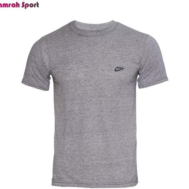 تصویر تیشرت ورزشی مردانه ملانژ یقه گرد ساده
