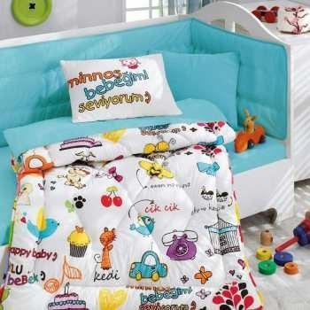 سرویس خواب کودک کاتن باکس مدل Multu Bebek Beyaz یک نفره 6 تکه | Cotton Box Multu Bebek Beyaz Child Sleep Set 1 Person 6 Pcs