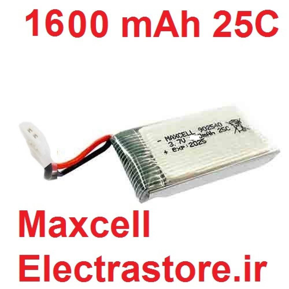تصویر 3.7 1600mAh مرغوب مارک مکسل باتری کوادکوپتر لیتیوم پلیمر