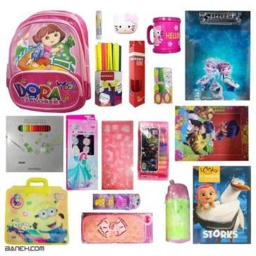 پکیج لوازم تحریر دخترانه متوسط کلاس 2 تا 4 Medium Package Girls | Medium Stationery Package for Girls 2 to 4