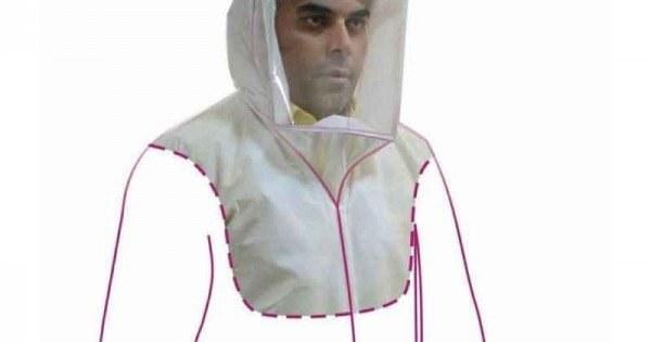 تصویر سرپوشه پزشکی سفید (شیلد یکسره صورت و شانه)
