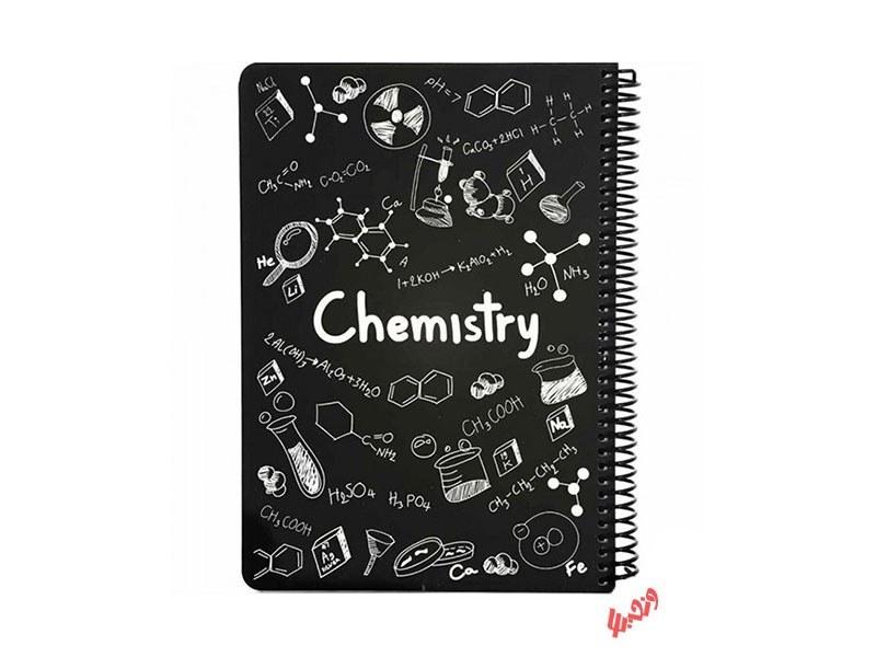 تصویر دفتر سیمی 100 برگ دات نوت طرح Chemistry
