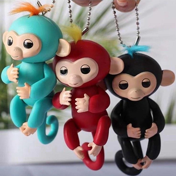 عروسک طرح میمون انگشتی ارتفاع 12 سانتی متر