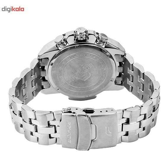 img ساعت مچی مردانه Casio مدل EF558D-1AV Casio Men's EF558D-1AV Silver Stainless-Steel Quartz Watch with Black Dial